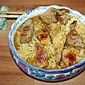 Echine de porc et nouilles chinoises au curry