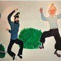 Tintin , hadock et tournesol