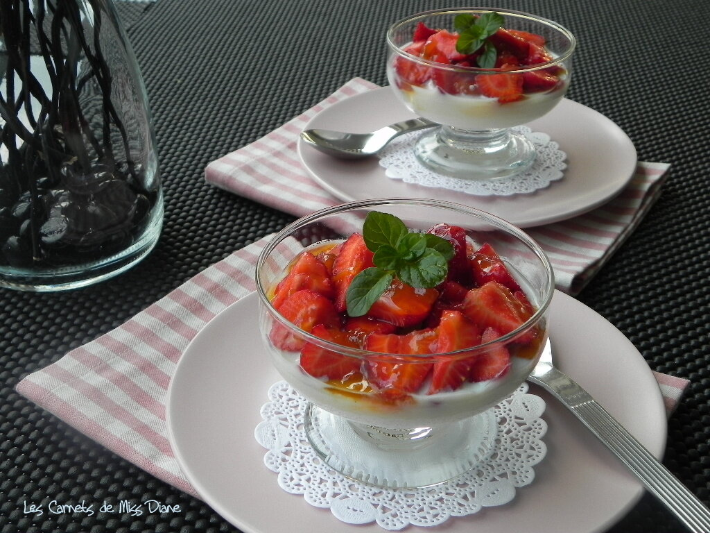Blanc-mange aux fraises, sans gluten et sans lactose