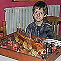 Gateau Léo 6 ans