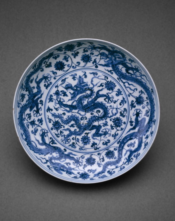 Dish, Ming dynasty (1368-1644), Zhengde reign mark and period (1506-21). The Art Institude of Chicago