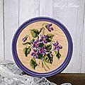 cadre violettes