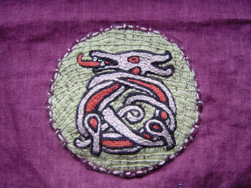 Broderie loup 2