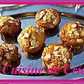 Muffins chocolat blanc et amandes