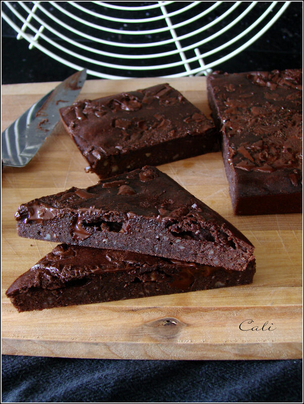Brownie aux Haricots Rouges & Chocolat 001