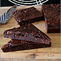 Brownie aux haricots rouges & chocolat
