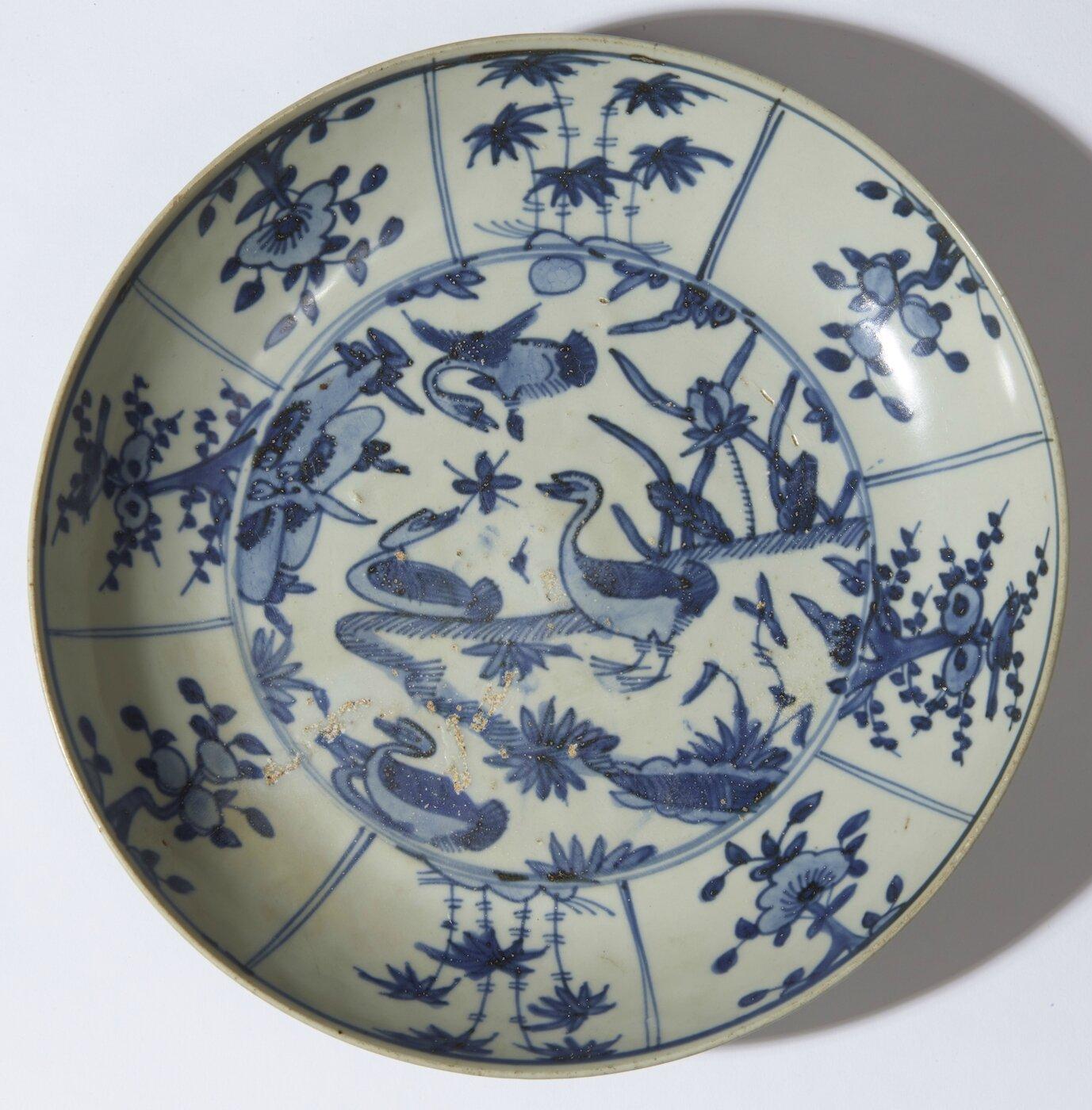 Plat à décor de quatre canards, Chine, Fours de Zhangzhou, dynastie des Ming, période Wanli (1573-1619)