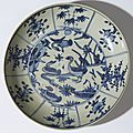 Plat à décor de quatre canards, Chine, Fours de Zhangzhou, dynastie des Ming, période Wanli (1573-1619)