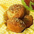Muffins salés au parmesan et aux graines de tournesol, sans gluten