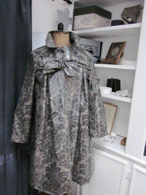 Ciré AGLAE en coton enduit baroque gris (2)