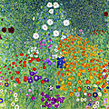Jardin de fleurs de gustav klimt