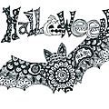 Diy - zentangle d'halloween (gabarits à télécharger et à décorer)