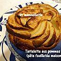 Tartelettes aux pommes et pâte feuilletée maison