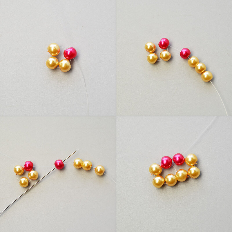 How-to-Design-a-Pair-of-Rhombus-Pearl-Beads-Pendant-Earrings-2