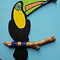Plaque de porte toucan