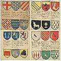 A l'occasion de l'expotolkien bnf découvrez six armoiries traditionnelles des chevaliers de la table ronde.