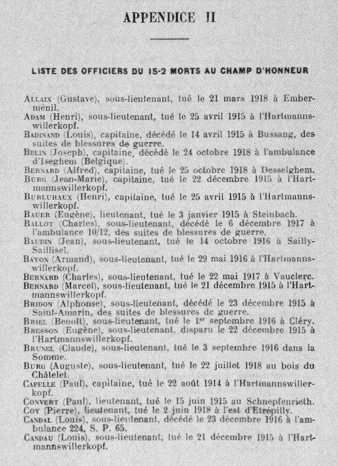 Historique 152e RI