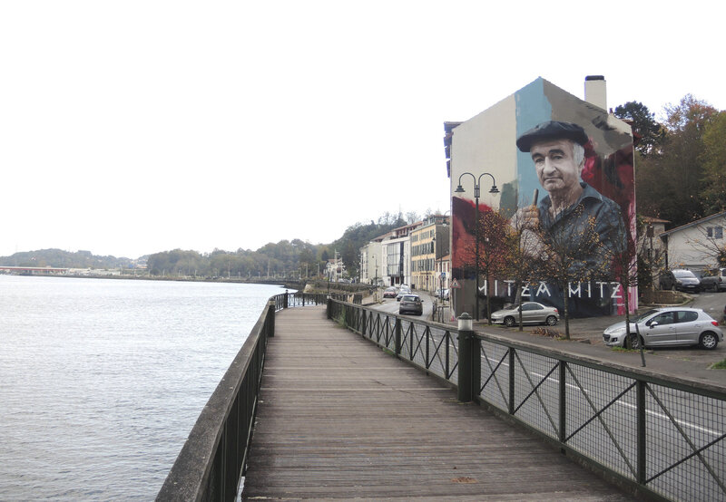 Bayonne, Street Art point de vue, fresque Sismikazot