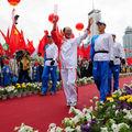 Relais de la flamme olympique à Xining