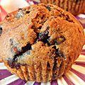Muffins aux bleuets (myrtilles) et sirop d'érable (sans lactose)