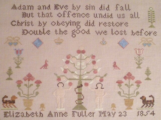 Elizabeth Ann Fuller 1854, brodé par Mand