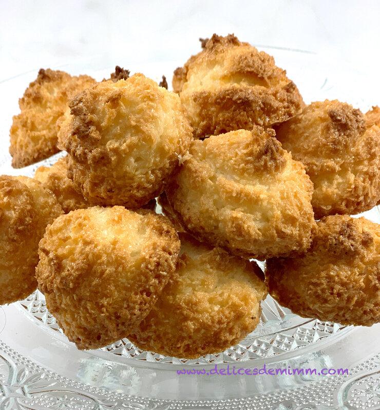 Petits rochers à la noix de coco recette facile 2