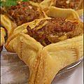 Safiha albalabakia (bouchée à la viande)(liban)