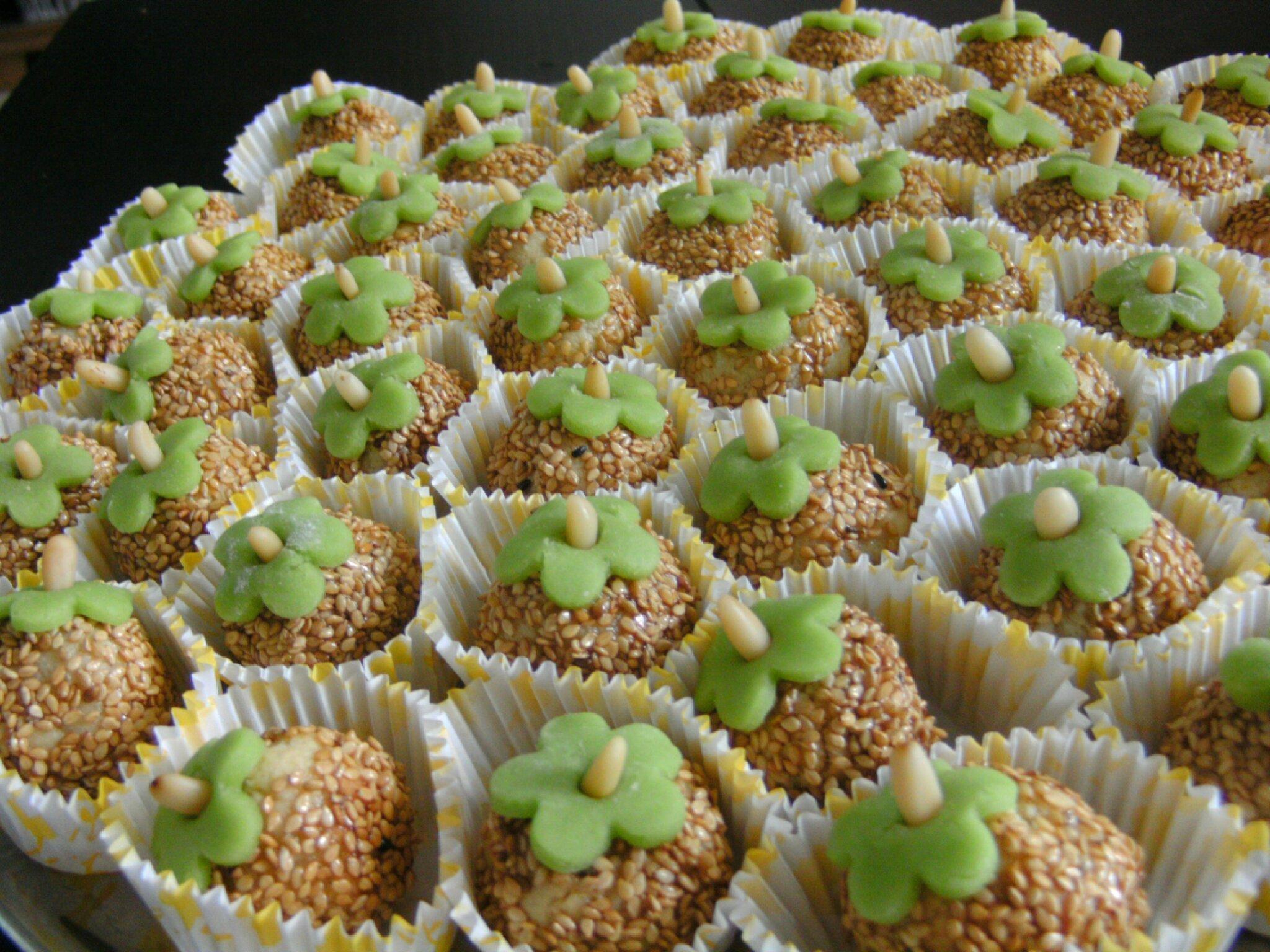 boules fleuries amande/sésame