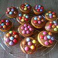 muffins vanille nut et smarties
