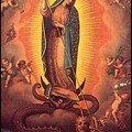 vierge combatant le dragon