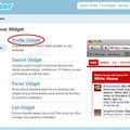 Ajouter le widget de votre twitter à votre blog / site avec dreamweaver