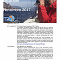 Agenda de la mer : novembre 2017 - agenda of the sea : november 2017