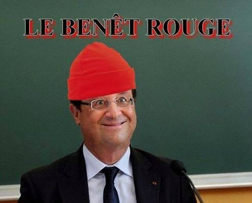 ps hollan,de humour bonnet rouge