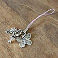 Breloque papillon violet