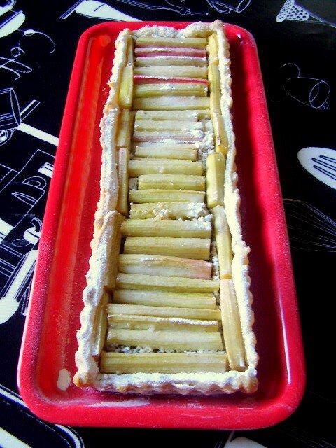 tarte à la rhubarbe de Béa