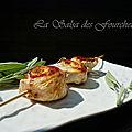 Brochettes de saltimbocca à la sauge