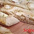 fougasse au fromage de chevre.
