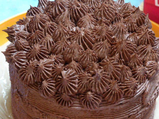 Layer cake chocolat et pâte à tartiner