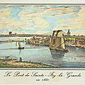 P.p.p : ponts, peages, poids .... le pont de sainte foy la grande ( construit en 1829) ( 33 gironde)