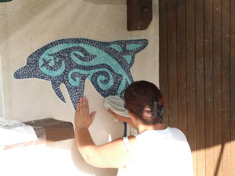 pose fresque murale Dauphin