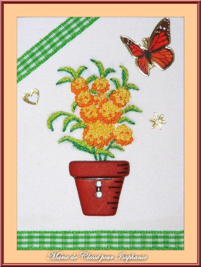 Echange ATC Perso [Fleurs de printemps] Marie de Clessé pour Isaphanie 1