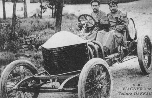 1906 gp de l'acf, le mans - louis wagner (darracq 120hp) dnf 2 laps engine 2