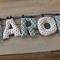 lettres déco prénom AARON