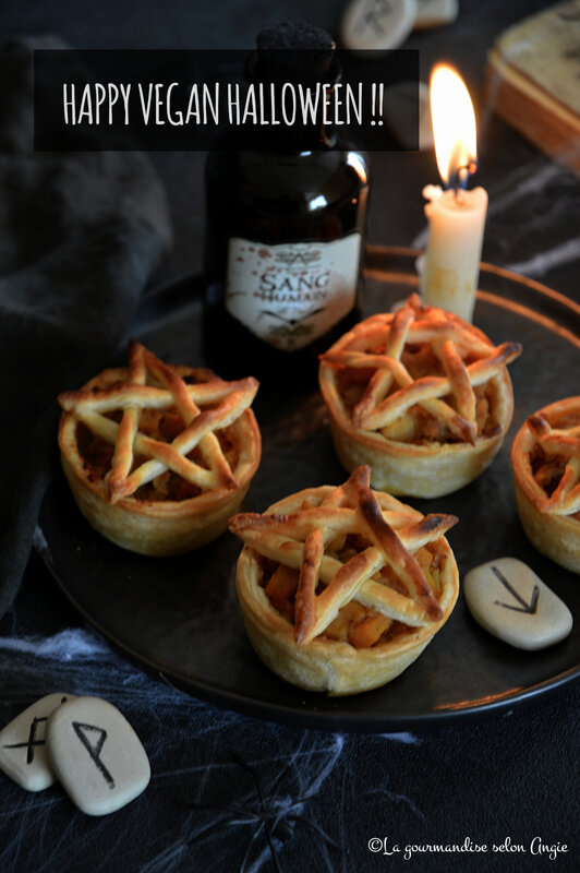 tartelettes pentagramme sorciere halloween vegan compote potiron pomme cannelle (1)