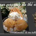 Sorbet à la mangue au thé au jasmin