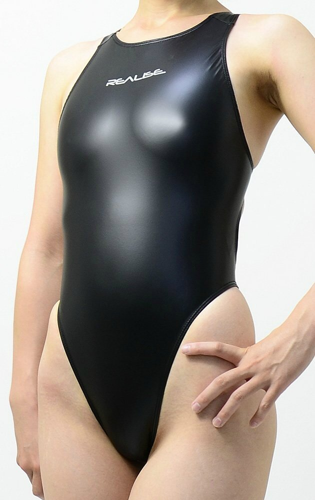 Thong rubber competition swimsuit Realise Black side