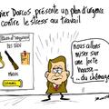 Xavier darcos, plan contre le stress et travail, débile,fusil