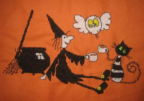 meg and mog witch's brew cross stitch crazy numéro 103