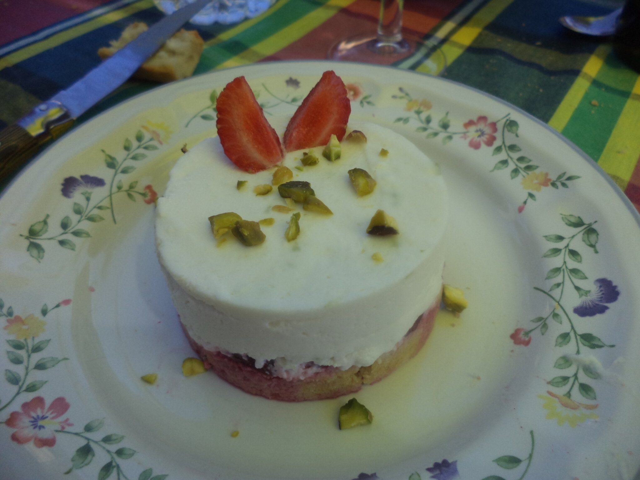 cheese-cake coco pistache framboises