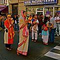 Défilé du Ratha Yatra rue du Fbg Saint-Denis.